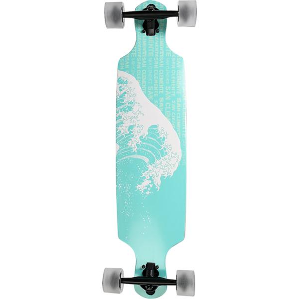 """San Clemente Longboards Great Wave Drop Through Longboard Complete Skateboard - 8.5"""" x 36"""""""