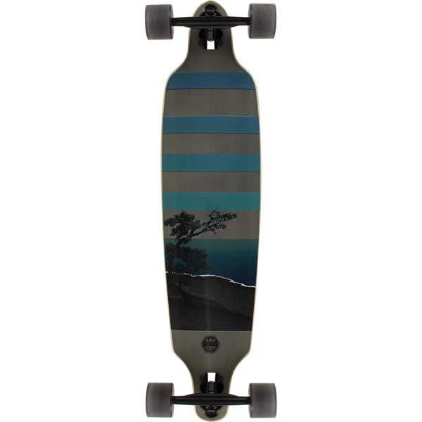 """San Clemente Longboards Night Lake Drop Through Longboard Complete Skateboard - 9"""" x 38"""""""