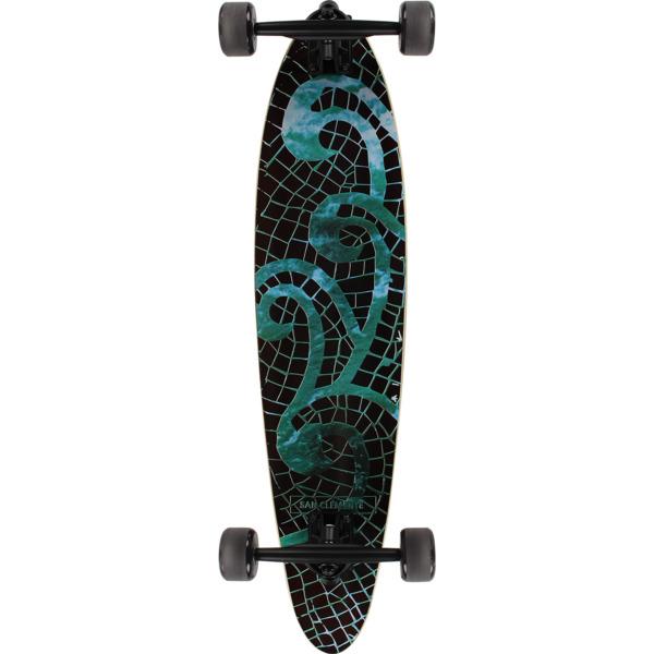 """San Clemente Longboards Mosaic Sea Pintail Longboard Complete Skateboard - 8"""" x 34"""""""