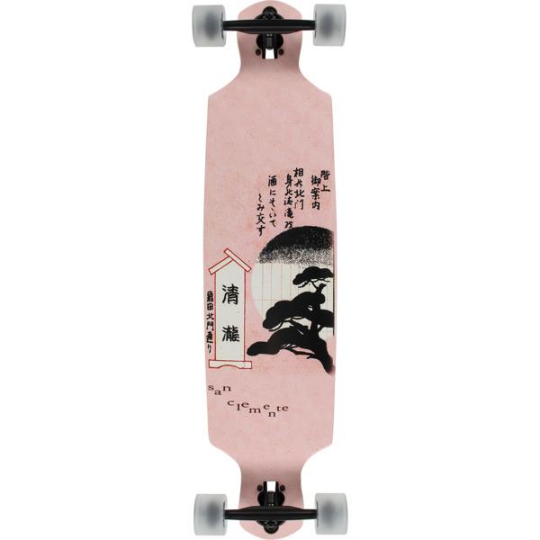 """San Clemente Longboards Peony Double Drop Longboard Complete Skateboard - 9"""" x 39"""""""