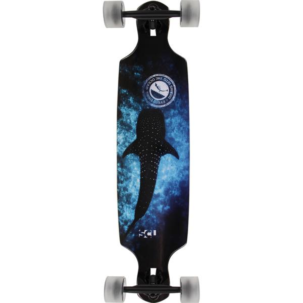 """San Clemente Longboards Whale Shark Drop Through Longboard Complete Skateboard - 9"""" x 36"""""""