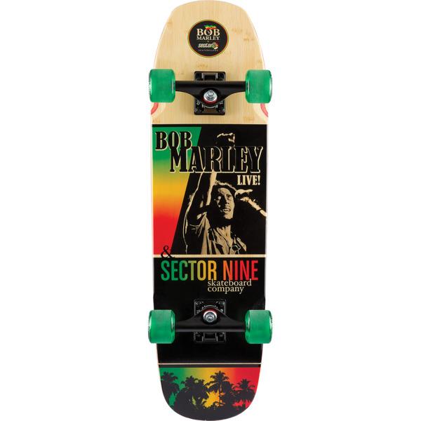 "Sector 9 Bamboo Bob Marley Natty Ride Longboard Complete Skateboard - 8.5"" x 30.9"""