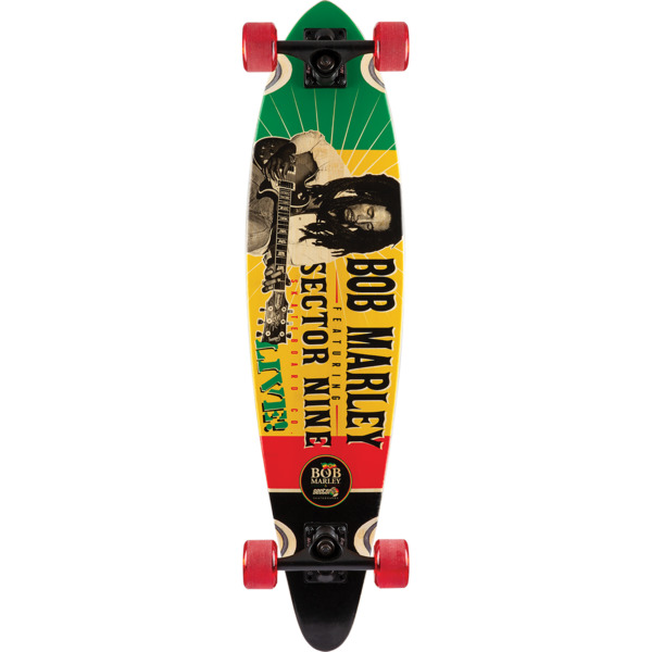 "Sector 9 Bamboo Bob Marley Redemption Longboard Complete Skateboard - 8.5"" x 34.5"""