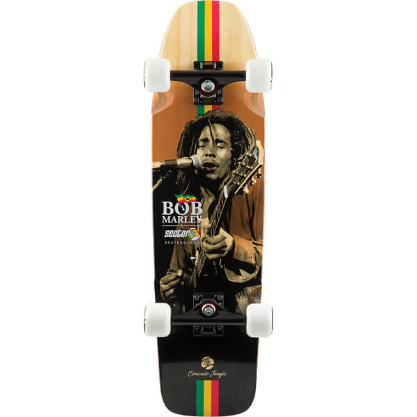 "Sector 9 Bamboo Bob Marley Series Concrete Jungle Cruiser Complete Skateboard - 8.37"" x 30.5"""