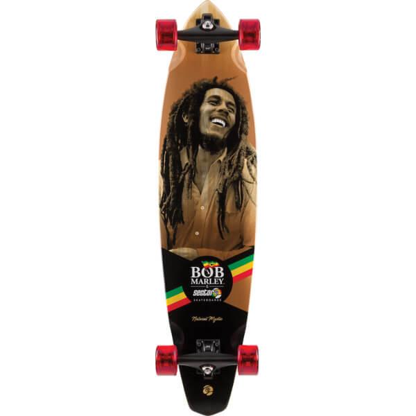 "Sector 9 Bamboo Bob Marley Series Natural Mystic Longboard Complete Skateboard - 9.25"" x 38.5"""
