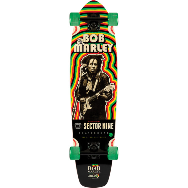"Sector 9 Bamboo Trenchtown Rock Longboard Complete Skateboard - 8.7"" x 34"""
