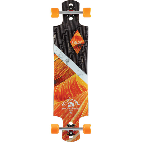 "Sector 9 Canyon Catapult Longboard Complete Skateboard - 9.5"" x 38"""