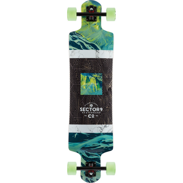 "Sector 9 Valley Faultline Longboard Complete Skateboard - 9.75"" x 39.5"""