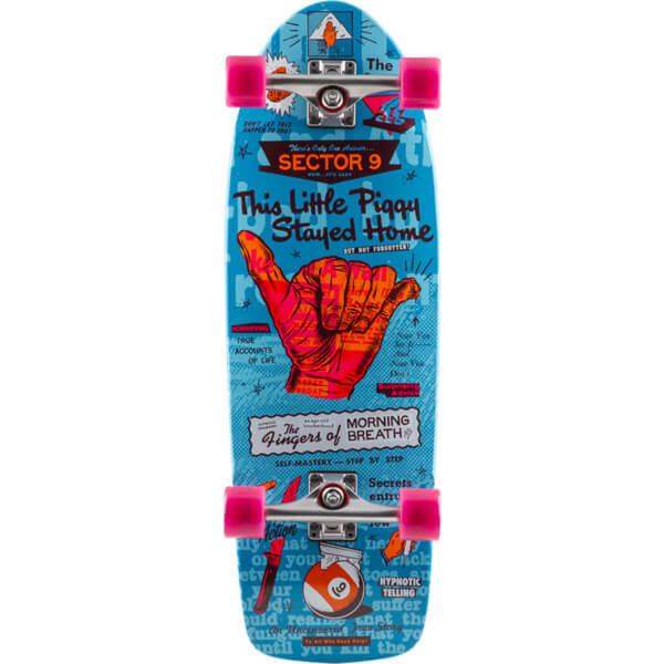 "Sector 9 Heffer Morning Breath Blue Cruiser Complete Skateboard - 9.8"" x 30"""