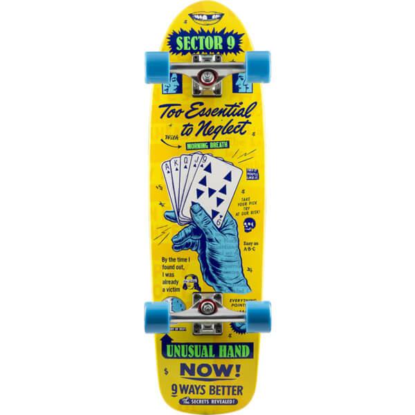 "Sector 9 Royal Flush Morning Breath Yellow Cruiser Complete Skateboard - 8.5"" x 30.5"""