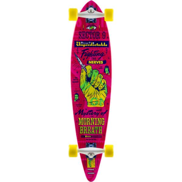 "Sector 9 Switchblade Morning Breath Pink Longboard Complete Skateboard - 8.75"" x 38"""