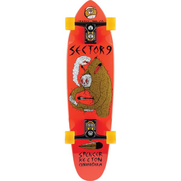 "Sector 9 SKC Downfall Red Longboard Complete Skateboard - 9"" x 34"""