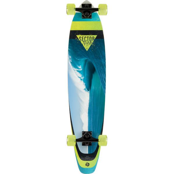 "Sector 9 Cavern Cutback Longboard Complete Skateboard - 8.36"" x 37.5"""