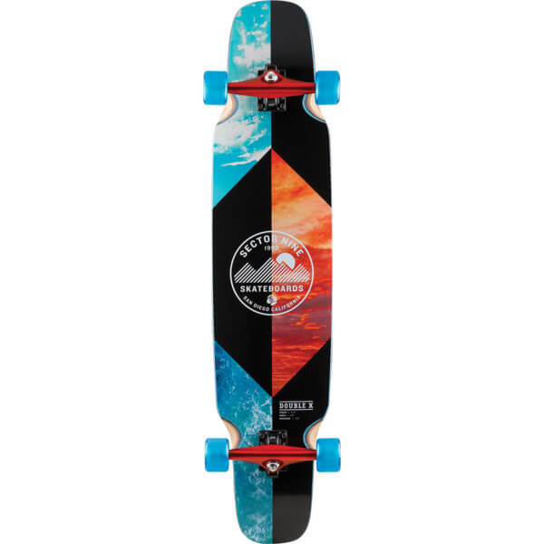 "Sector 9 Classix Series Split Double Cross Longboard Complete Skateboard - 9.25"" x 41.75"""