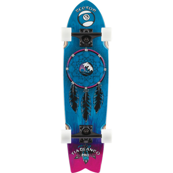 "Sector 9 Feather Tia Pro Cruiser Complete Skateboard - 8"" x 30.5"""