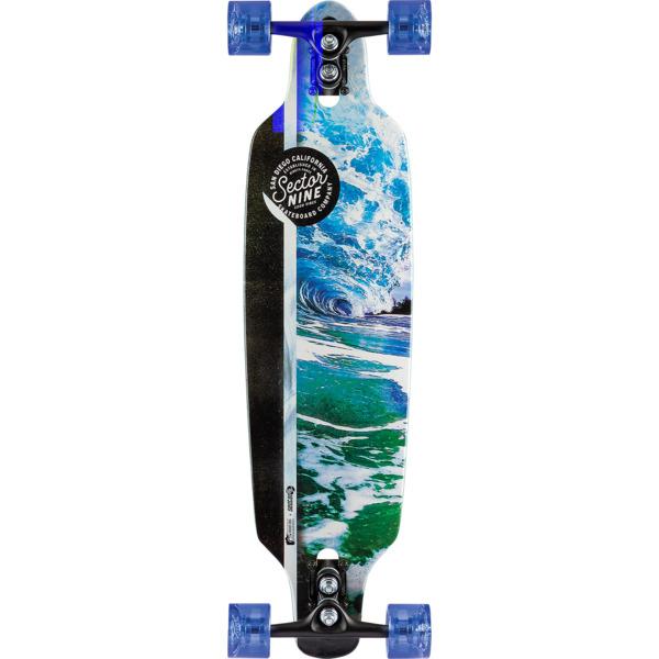 """Sector 9 Flux Mini Fractal Longboard Complete Skateboard - 8.75"""" x 34"""""""