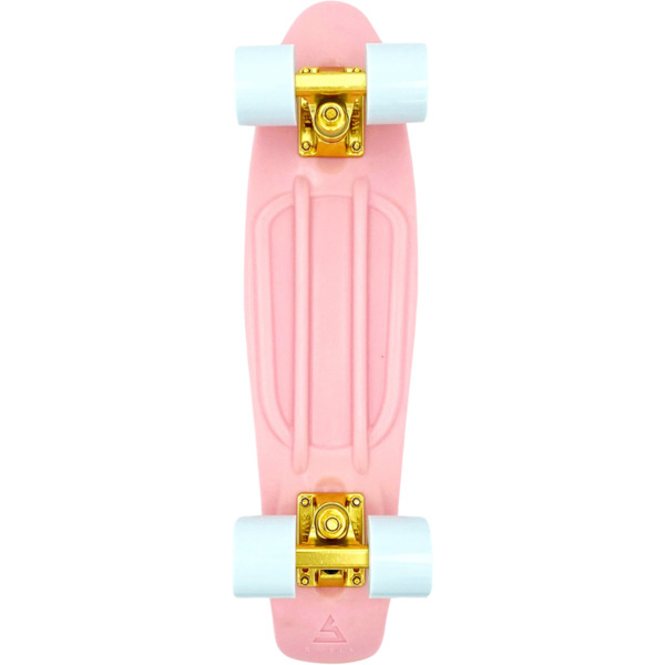 """Swell Skateboards Coral Pink / Gold / White Cruiser Complete Skateboard - 6"""" x 22"""""""