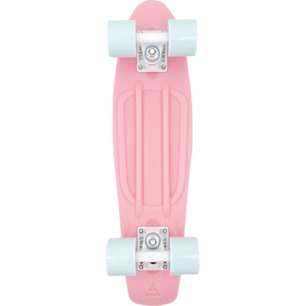 """Swell Skateboards Coral Pink / White / White Cruiser Complete Skateboard - 6"""" x 22"""""""