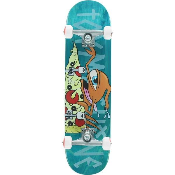 "Toy Machine Skateboards Pizza Shredder Blue Complete Skateboard - 7.75"" x 31.75"""