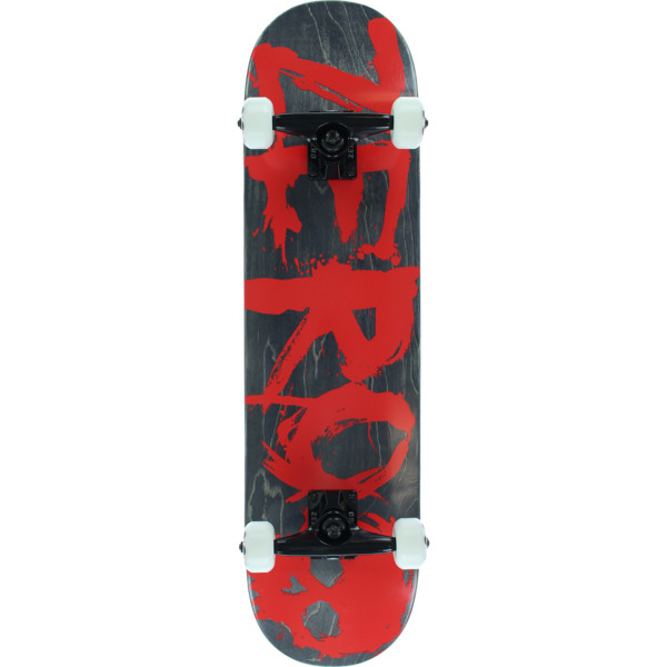 "Zero Skateboards Blood Text Black Stain / Red Complete Skateboard - 7.75"" x 31.5"""