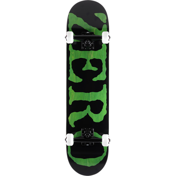 "Zero Skateboards Og Font Black / Green Mid Complete Skateboards - 7.62"" x 31.9"""