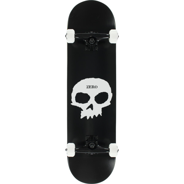 "Zero Skateboards Single Skull Black / White Complete Skateboard - 8"" x 32"""
