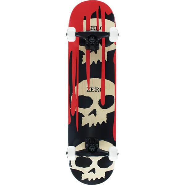 2e8d542c0e0197 Zero Skateboards 3 Skull Blood Natural / Red / Black Mid Complete  Skateboards - 7.62 x 31.9 - Warehouse Skateboards
