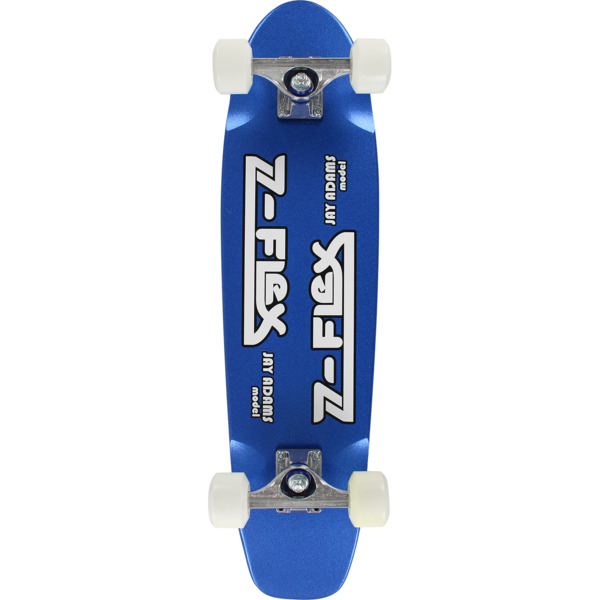 "Z-Flex Skateboards Jay Adams Blue Metal Flake Cruiser Complete Skateboard - 7.5"" x 29.25"""
