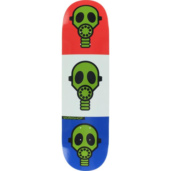 "Alien Workshop Gas Mask Bright Red / White / Blue Skateboard Deck - 8.37"" x 31.75"""