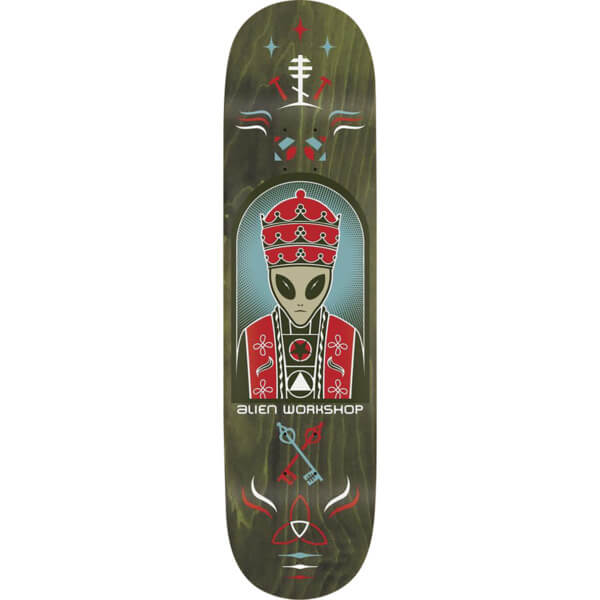 Priest Deck: Alien Workshop Priest Green Skateboard Deck