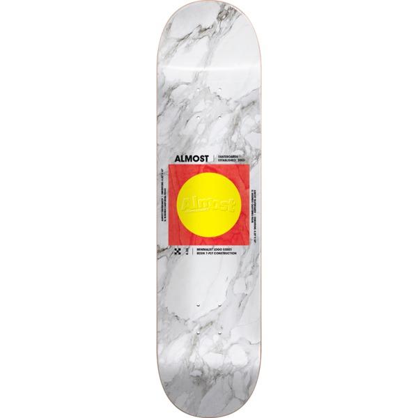"Almost Skateboards Minimalist White Skateboard Deck Resin-7 - 8.5"" x 32.2"""