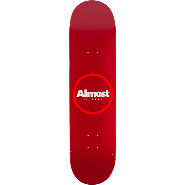 """Almost Skateboards Red Ring Red Skateboard Deck - 8.2"""" x 31.9"""""""