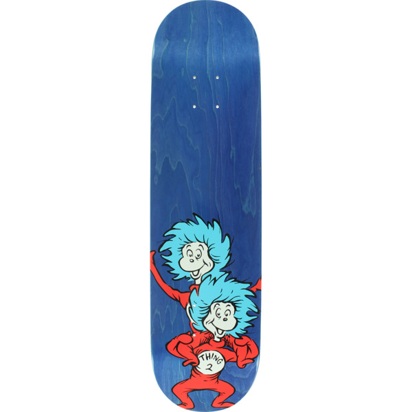 "Almost Skateboards Dr. Seuss Thing Stacked Blue Skateboard Deck Resin-7 - 8"" x 31.6"""