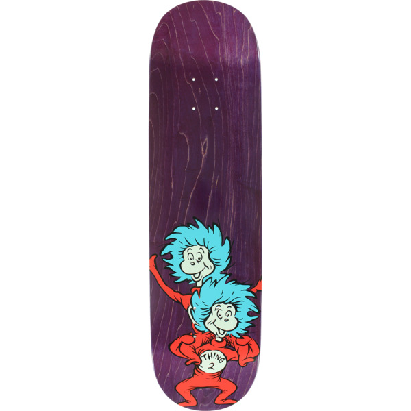 "Almost Skateboards Dr. Seuss Thing Stacked Purple Skateboard Deck Resin-7 - 8.25"" x 32.1"""