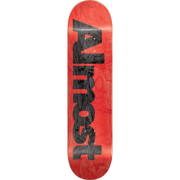 "Almost Skateboards Ultimate Red Skateboard Deck Resin-7 - 8.25"" x 32.1"""