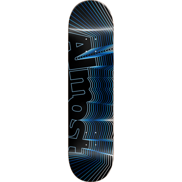 "Almost Skateboards Vibrate Blue Skateboard Deck - 8"" x 31.6"""