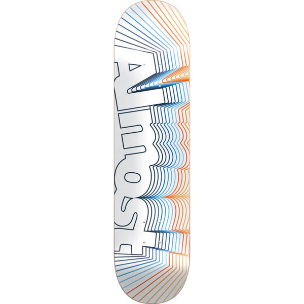 "Almost Skateboards Vibrate White Skateboard Deck - 8.5"" x 32"""
