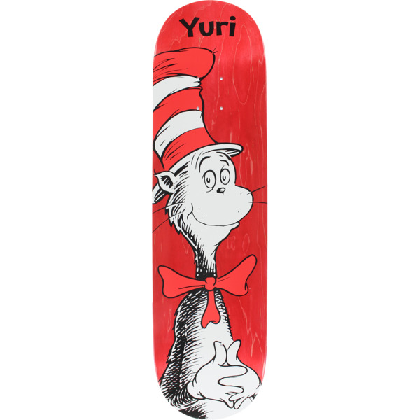 "Almost Skateboards Yuri Facchini Dr. Seuss Cat in the Hat Red Skateboard Deck Resin-7 - 8.12"" x 31.8"""