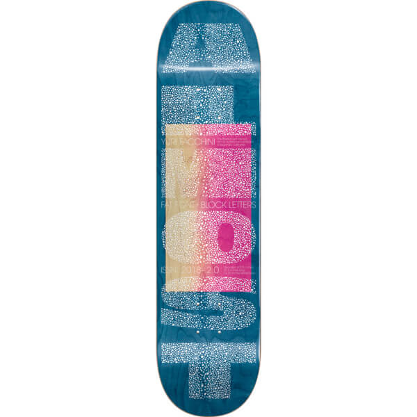 "Almost Skateboards Yuri Facchini Fat Font Skateboard Deck Resin-7 - 8.37"" x 31.8"""