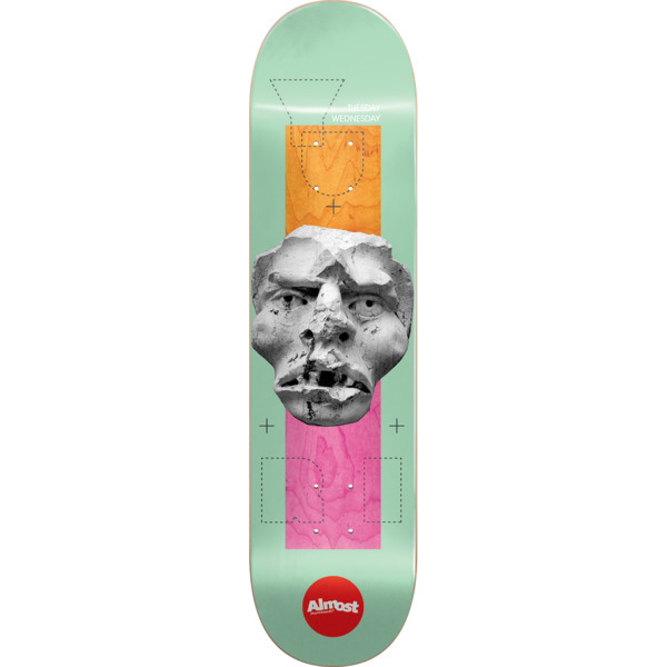 "Almost Skateboards Yuri Facchini Stone Head Skateboard Deck Impact Light - 8.37"" x 32.2"""
