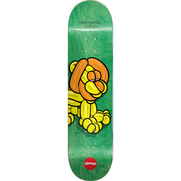 """Almost Skateboards Lewis Marnell Balloon Animals Green Skateboard Deck Resin-7 - 8"""" x 31.7"""""""