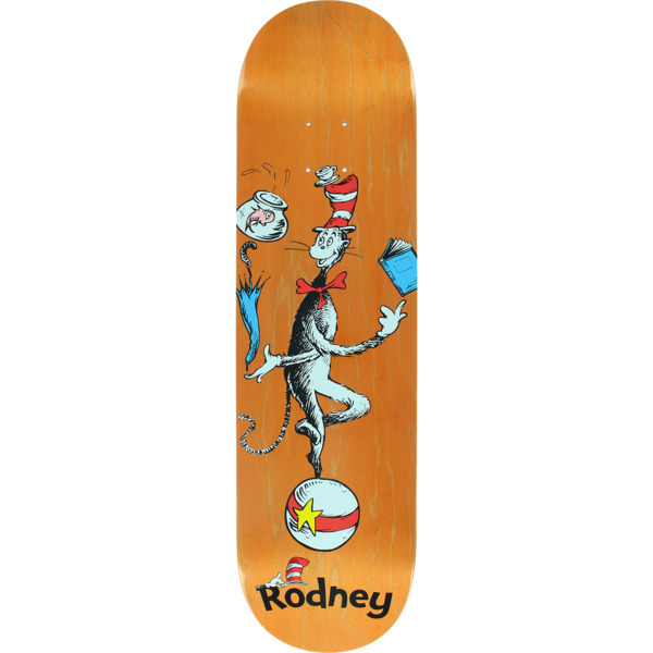 "Almost Skateboards Rodney Mullen Dr. Seuss Cat Ball Skateboard Deck Resin-7 - 8.25"" x 31.9"""