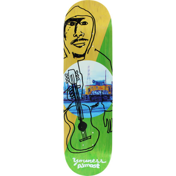 "Almost Skateboards Youness Amrani Diagonal Skateboard Deck Resin-7 - 8.25"" x 31.9"""
