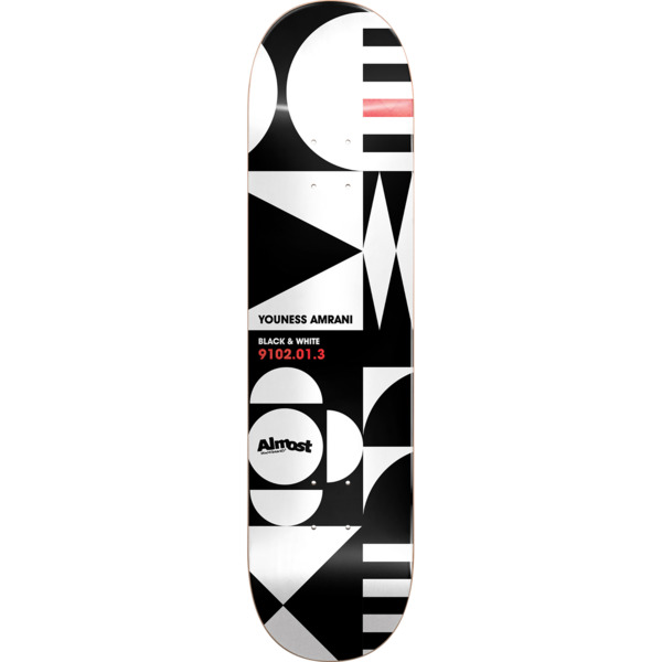 "Almost Skateboards Youness Amrani Geometrix Skateboard Deck Resin-7 - 8.37"" x 31.8"""