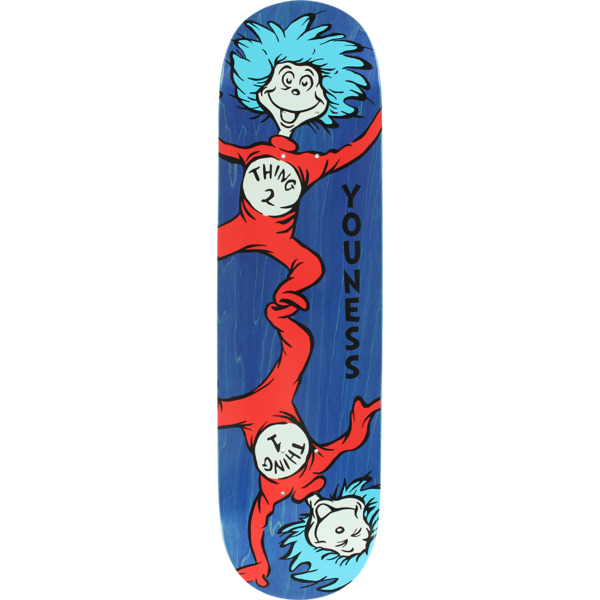 "Almost Skateboards Youness Amrani Dr. Seuss Thing 1 & 2 Blue Skateboard Deck Resin-7 - 8.12"" x 31.7"""