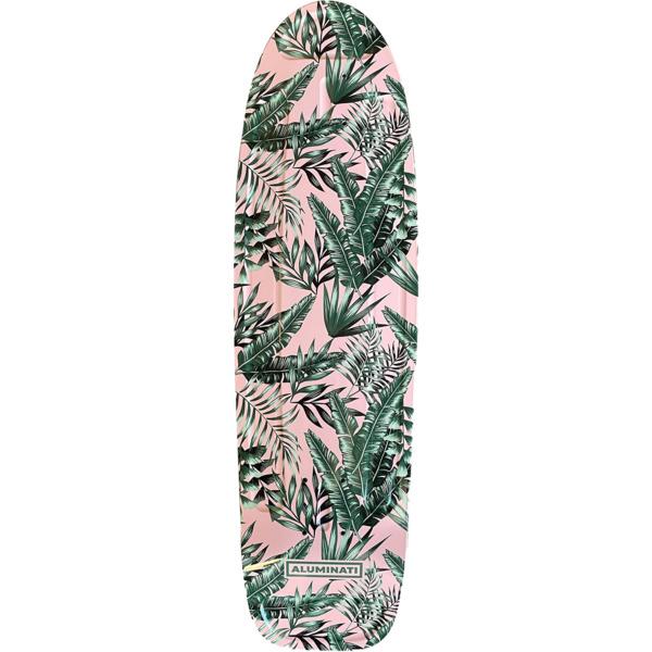 "Aluminati Skateboards Floral Flush Cruiser Skateboard Deck Jerry - 8.12"" x 28"""