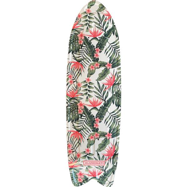 "Aluminati Skateboards Floral Paradise Cruiser Skateboard Deck Fish - 8.12"" x 28"""