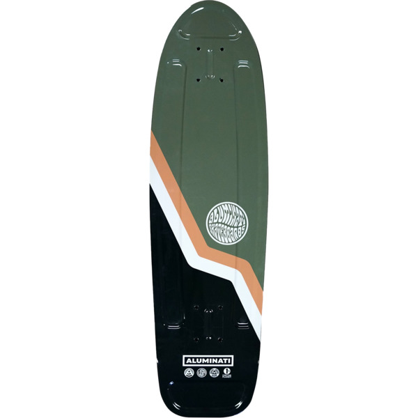 "Aluminati Skateboards Van Green Cruiser Skateboard Deck Jerry - 8.12"" x 28"""
