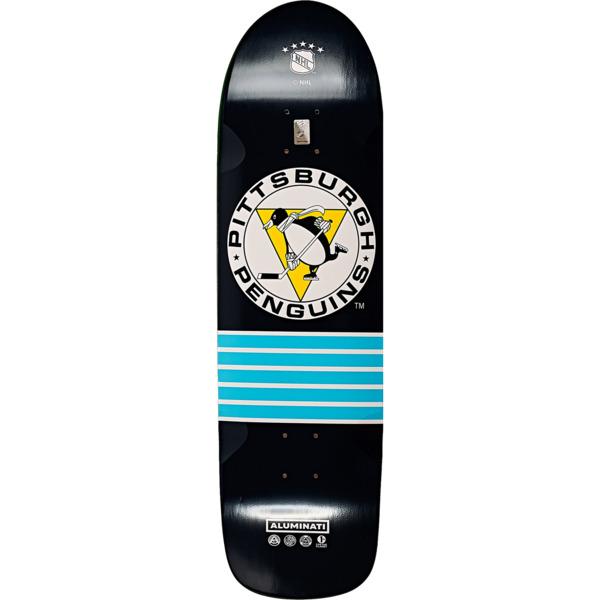 "Aluminati Skateboards NHL Penguins Cruiser Skateboard Deck - 9"" x 32.25"""