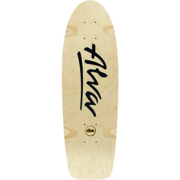 "Alva Skateboards Bela Horvath Reissue Natural / Black Old School Skateboard Deck - 8.5"" x 27"""